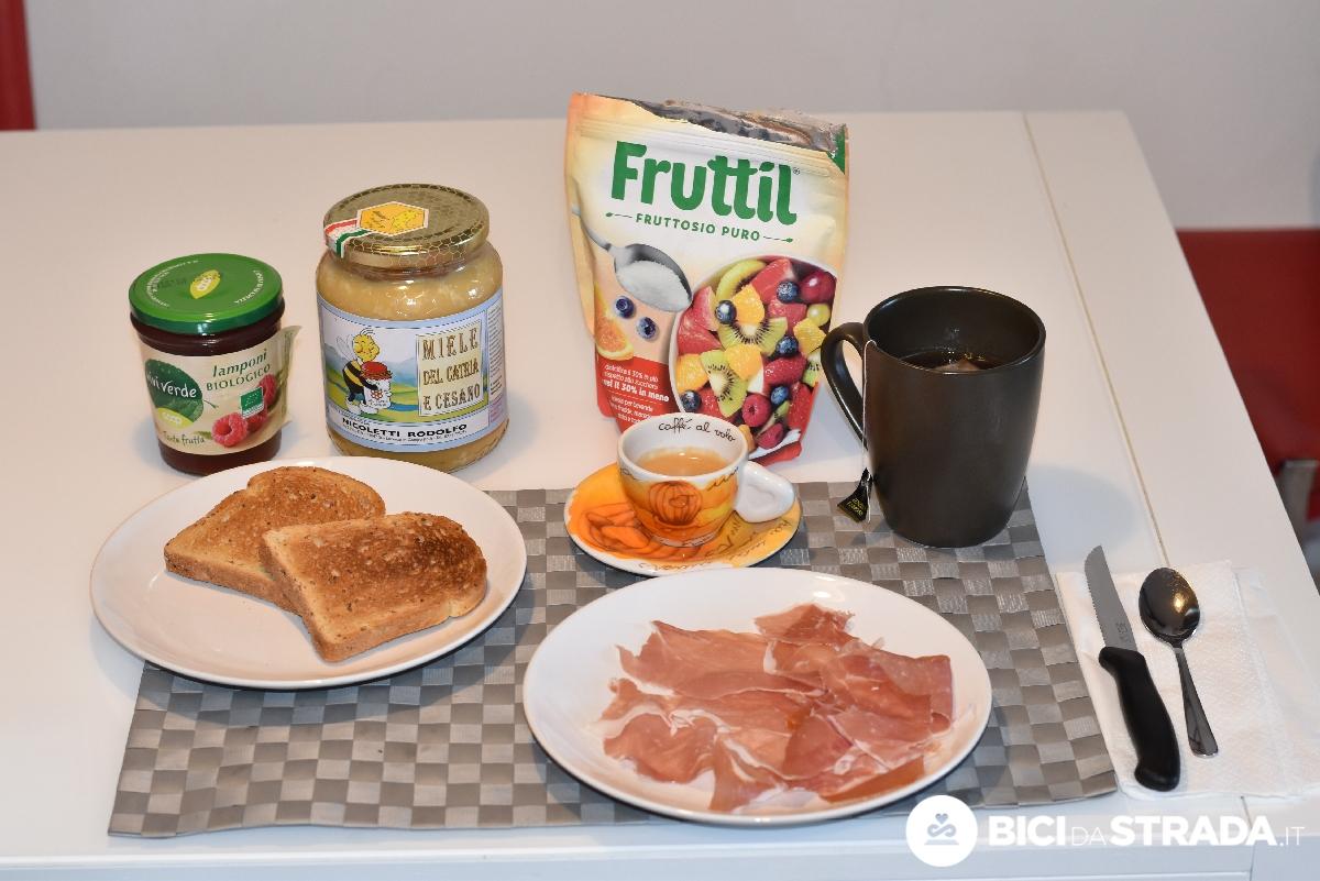La colazione prima della Gran Fondo