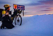 Omar Di Felice conquista Capo Nord in bici