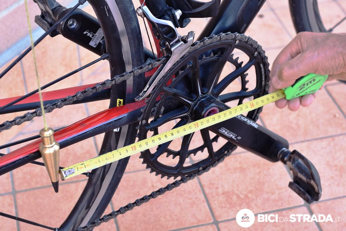 arretramento sella della bici