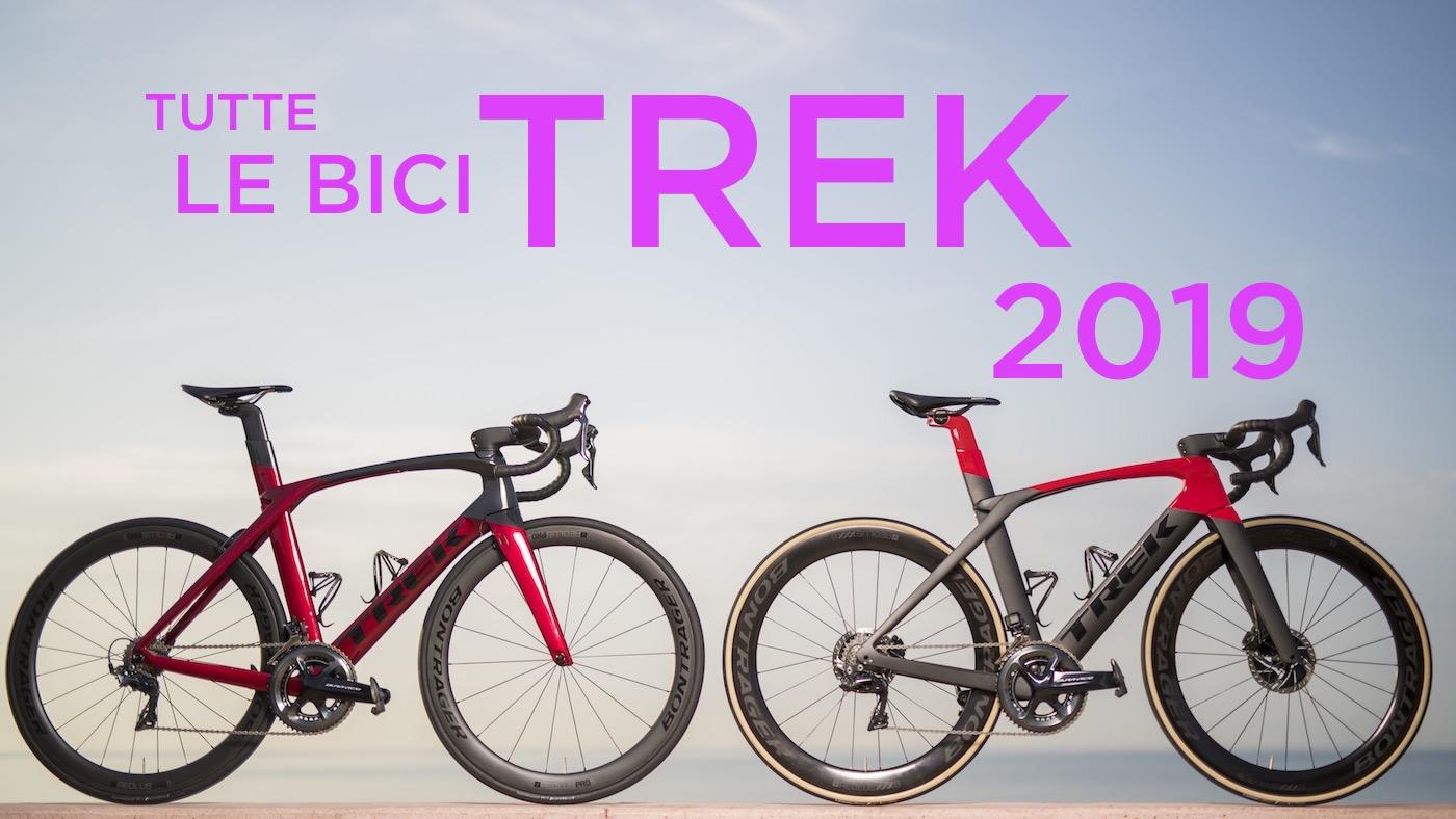 Bici da strada Trek 2019: immagini e prezzi di tutti i