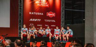 Sidi e il Team Katusha Alpecin