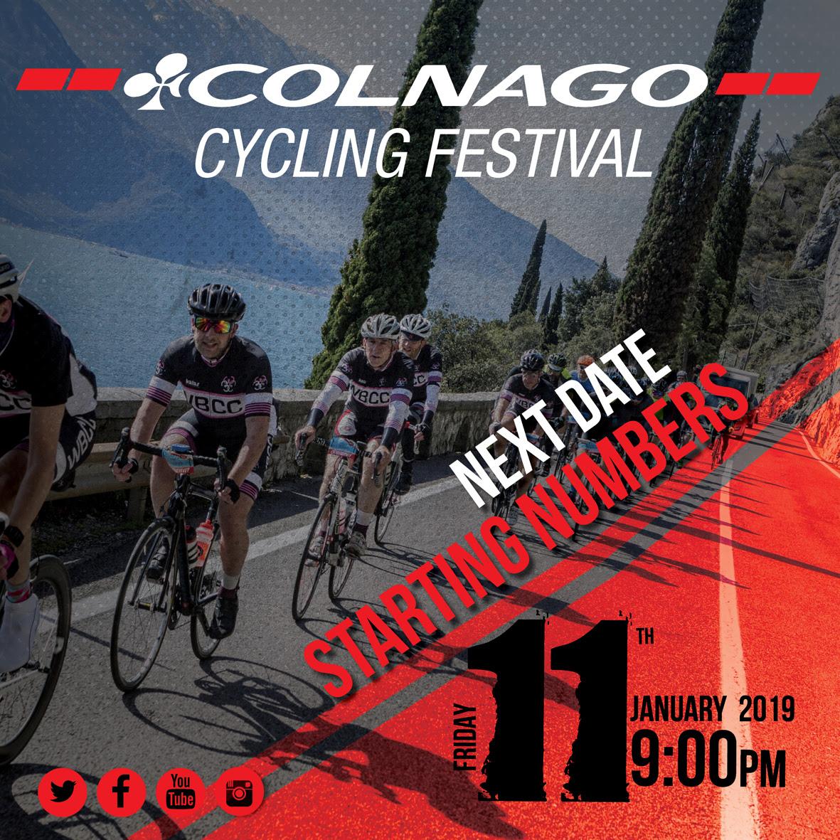 Iscrizioni Colnago Cycling Festival