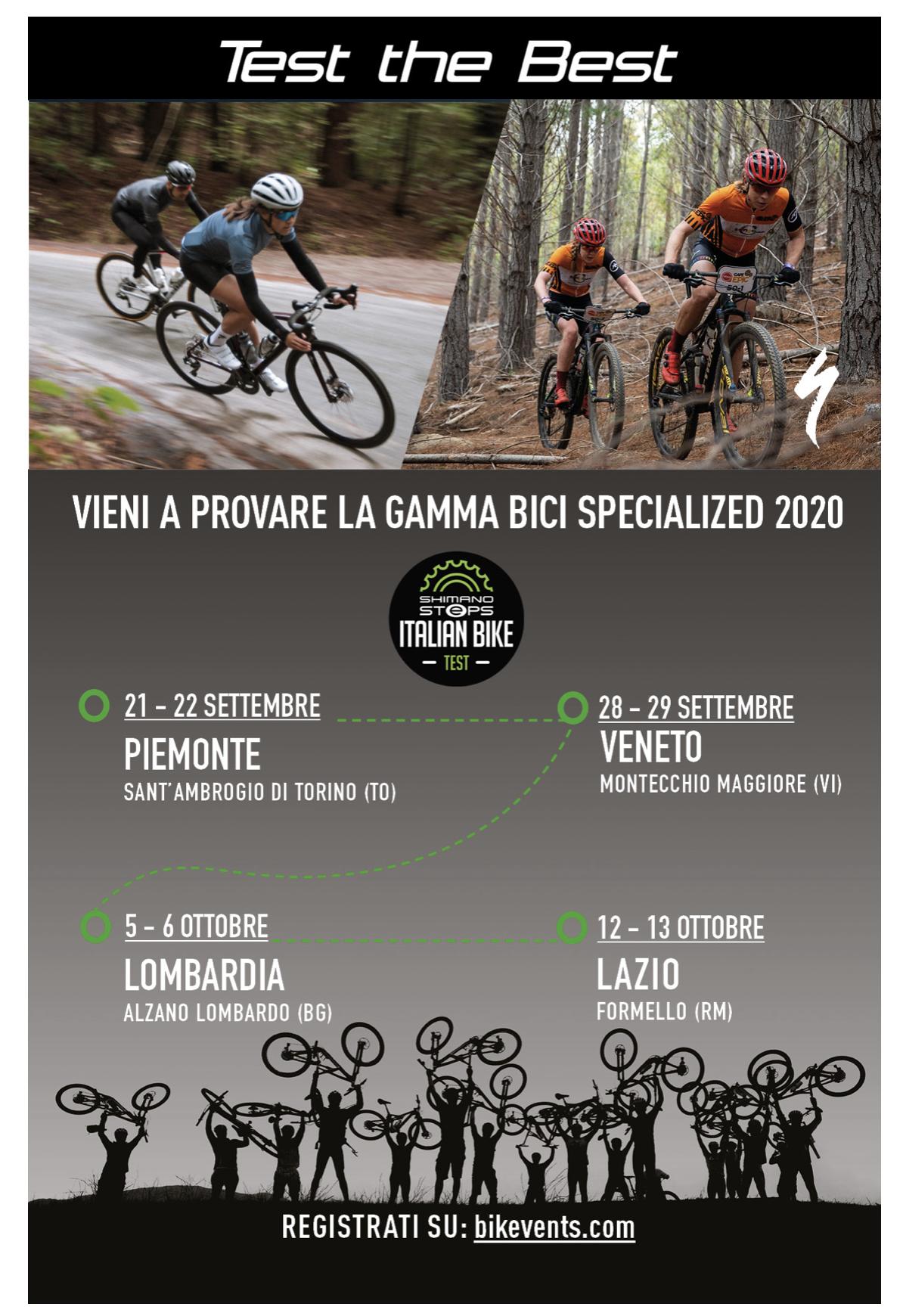 provare le bici Specialized 2020