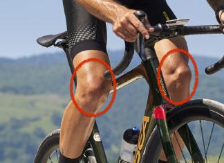 Dolore alle ginocchia in bici