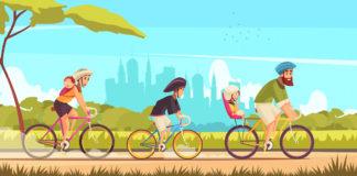 andare in bici con i bambini