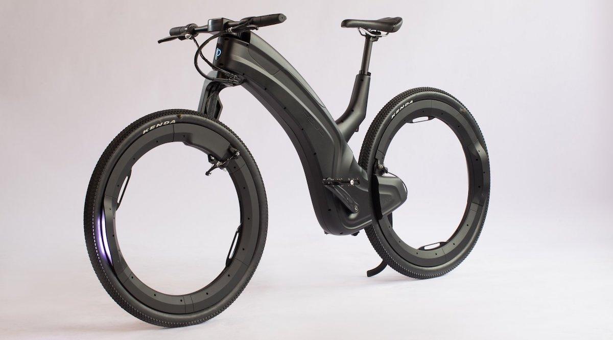 bici con ruote senza raggi