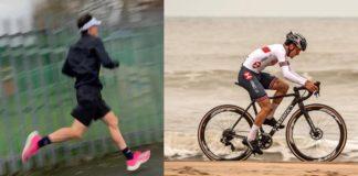 Corsa a piedi e ciclismo