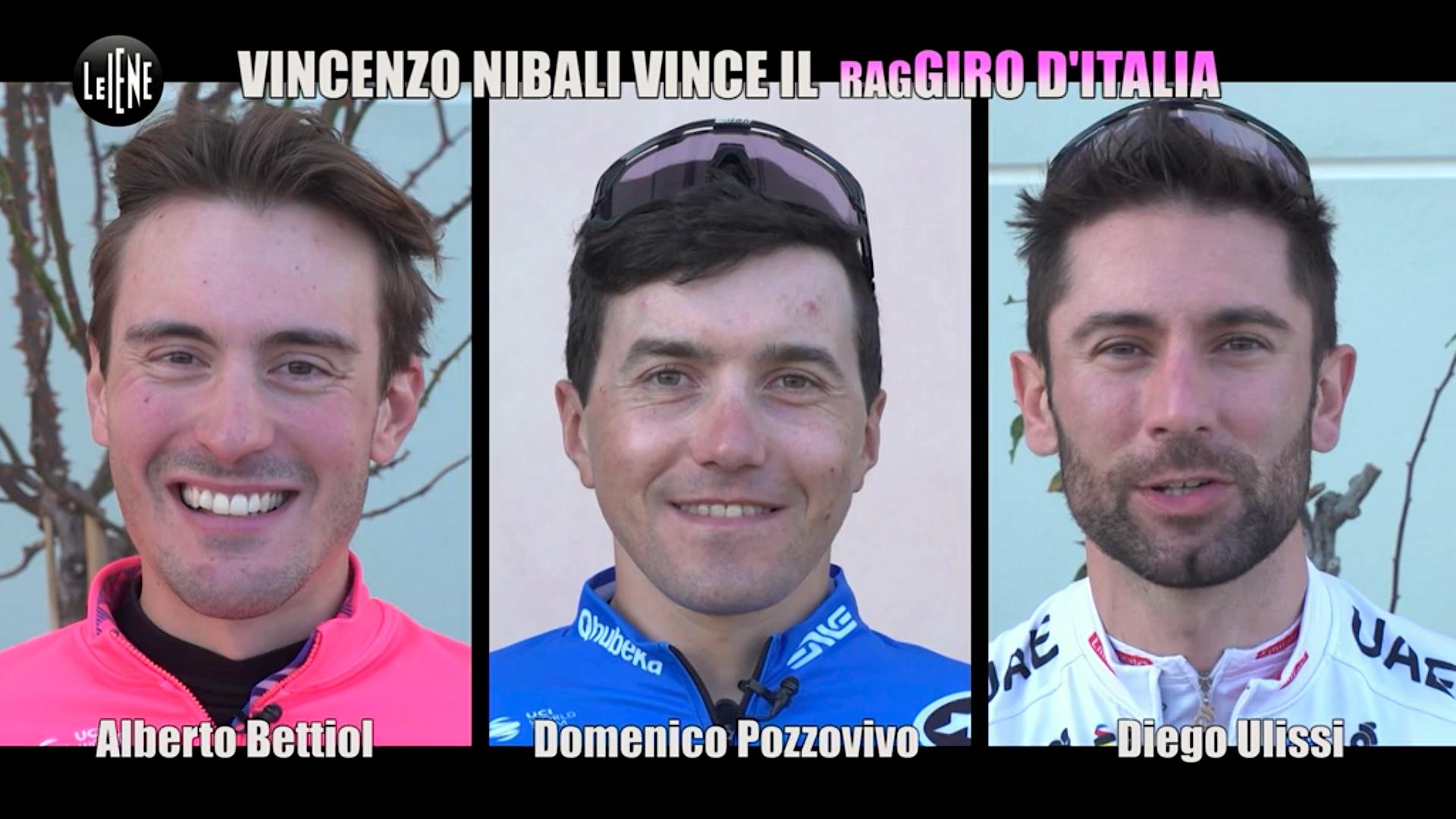 scherzo delle Iene a Vincenzo Nibali