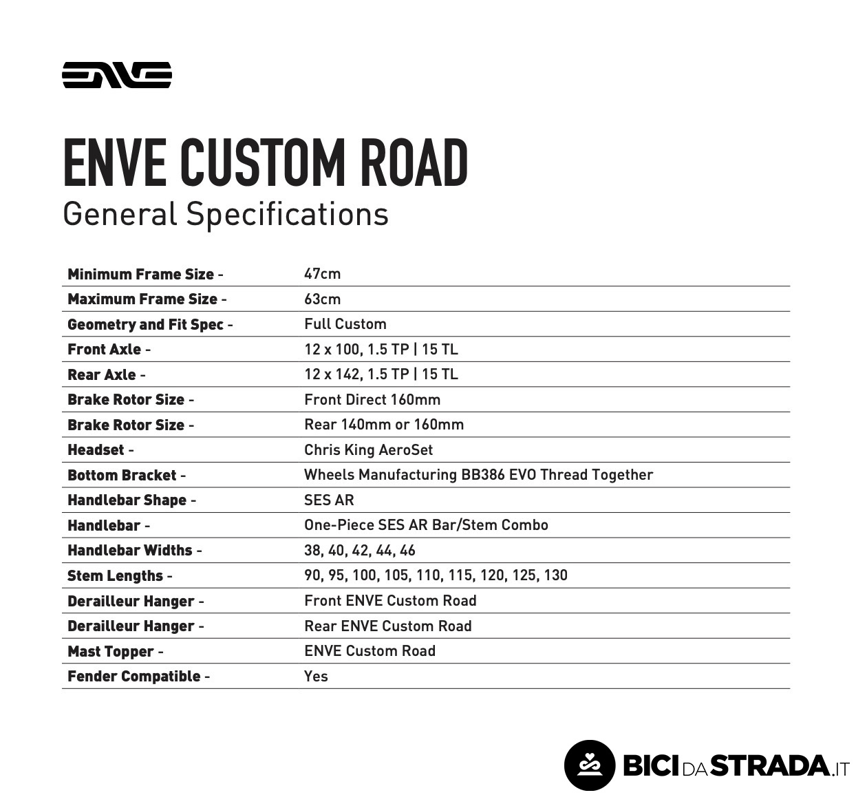 enve custom road