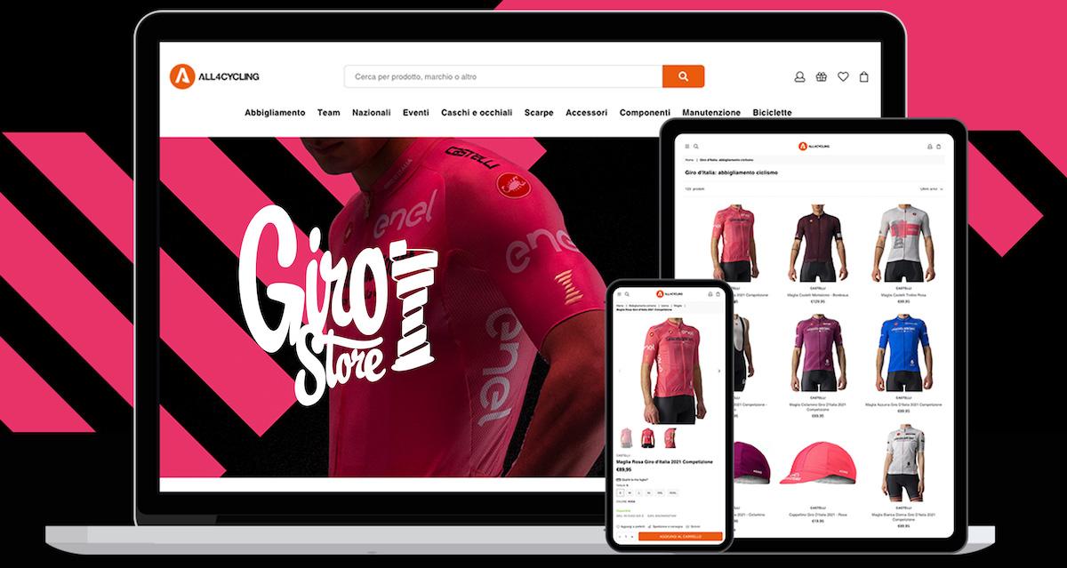 All4Cycling Giro Store, il negozio online ufficiale del Giro d'Italia 2021