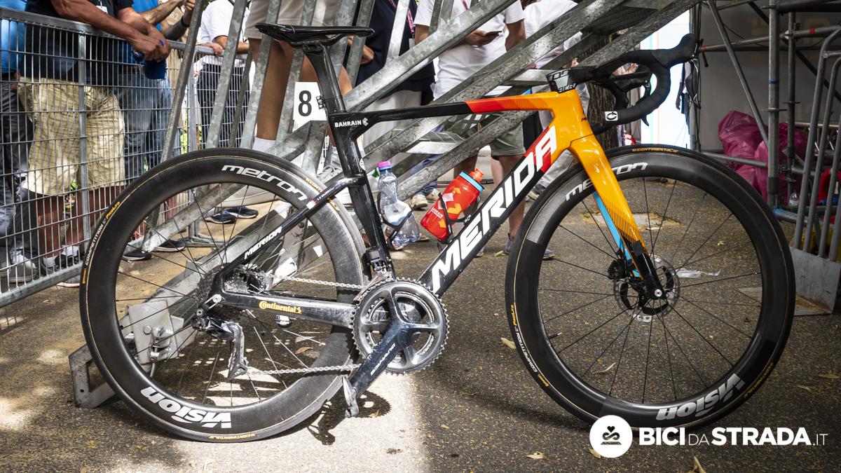 La Merida Reacto di Colbrelli. Nei dettagli della bici del campione italiano
